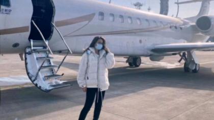 丸子坐北皇私人飞机,赴年度盛典